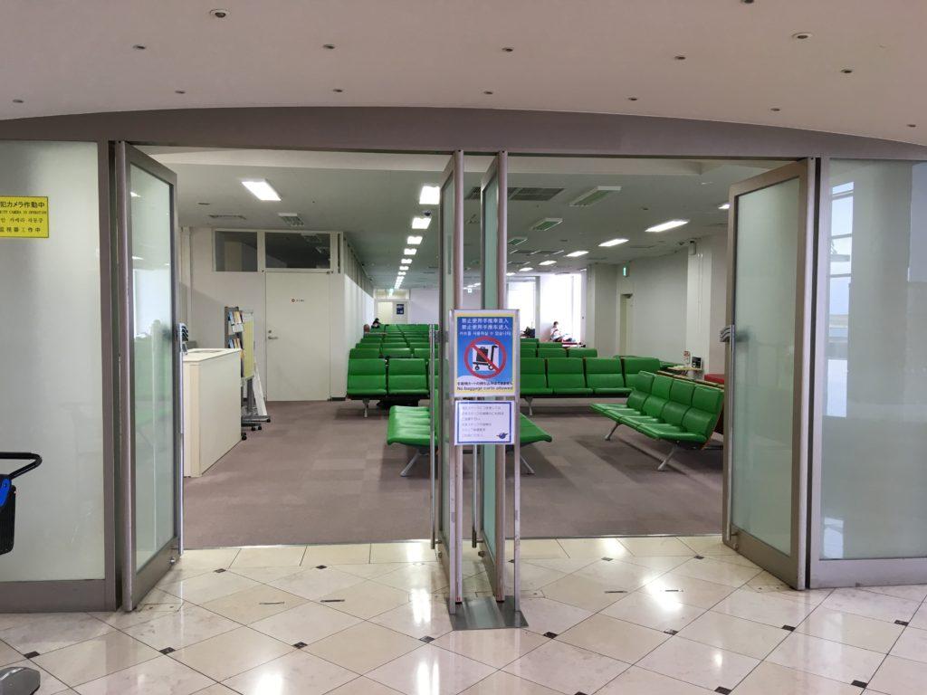待合室の入り口です。