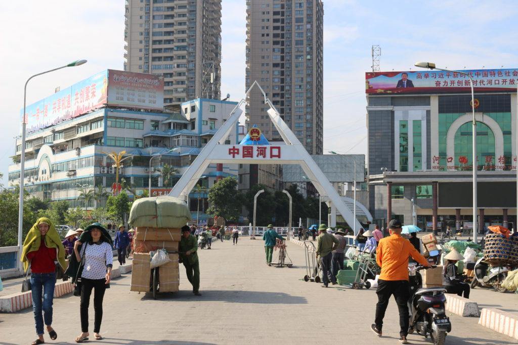 中国、河口側のゲート