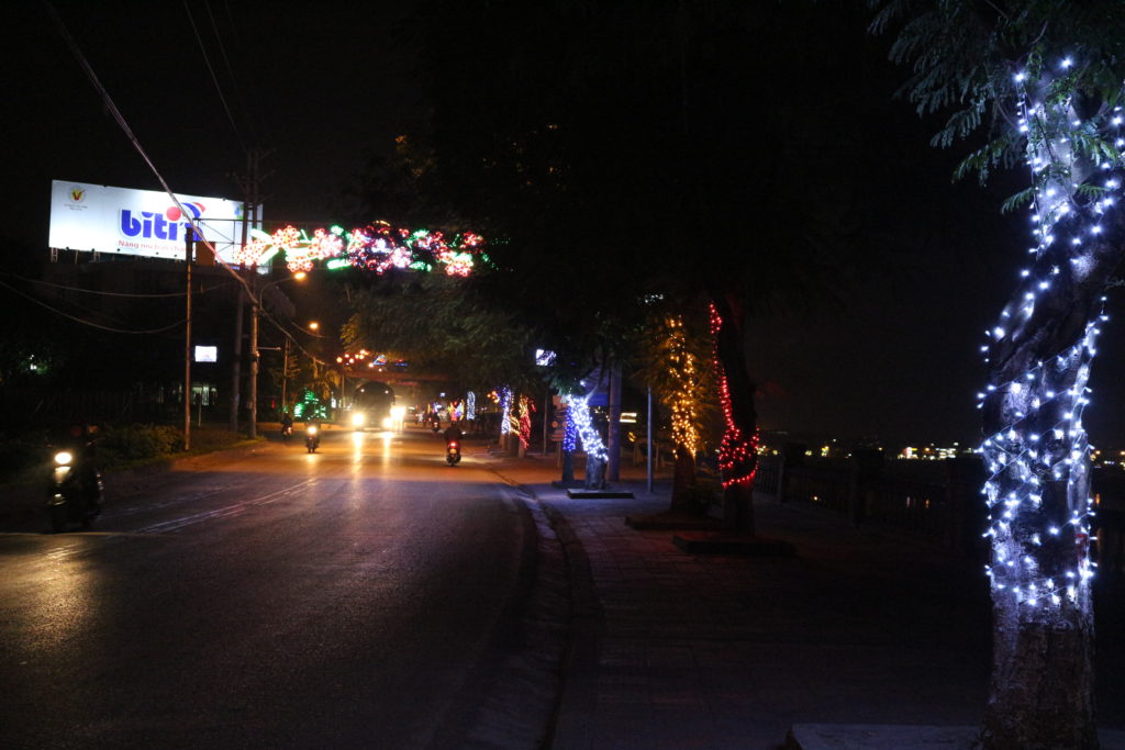 Nguyen Hue通りのイルミネーション
