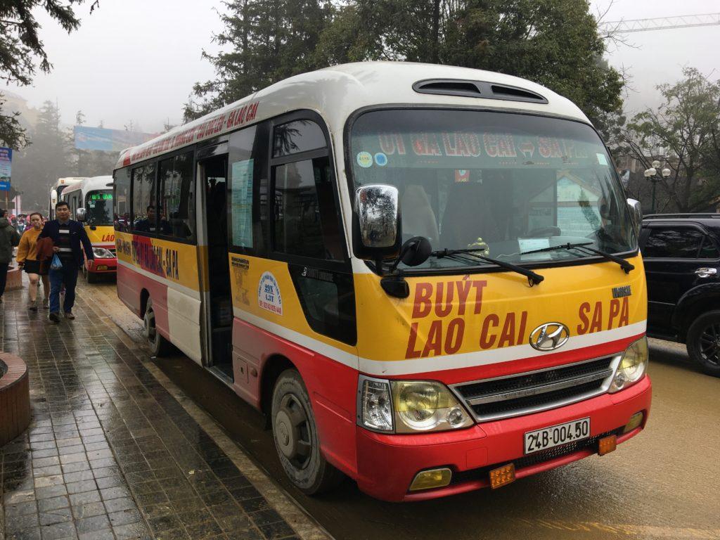 ラオカイ行きのバスです。