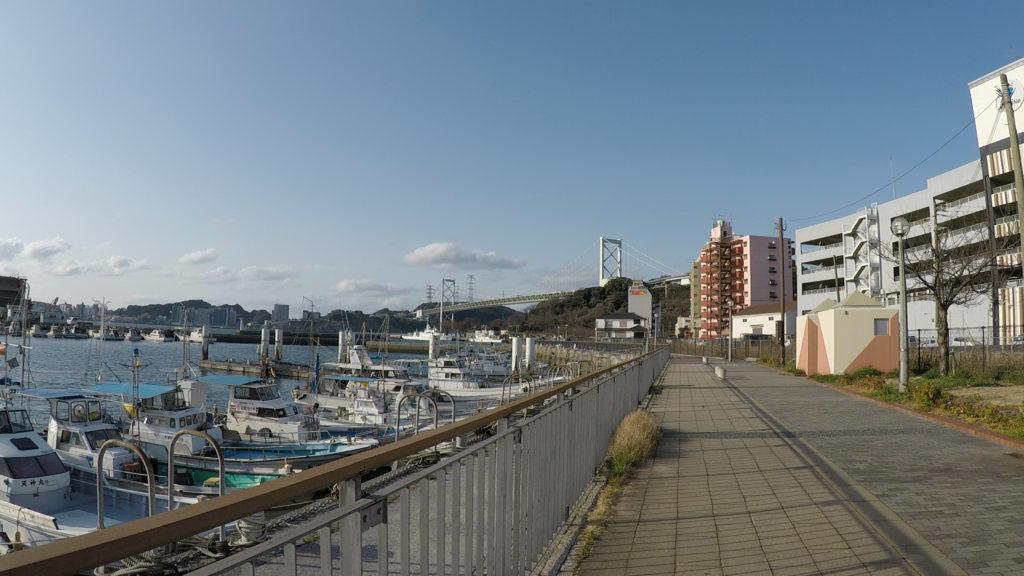 海岸に整備されている遊歩道