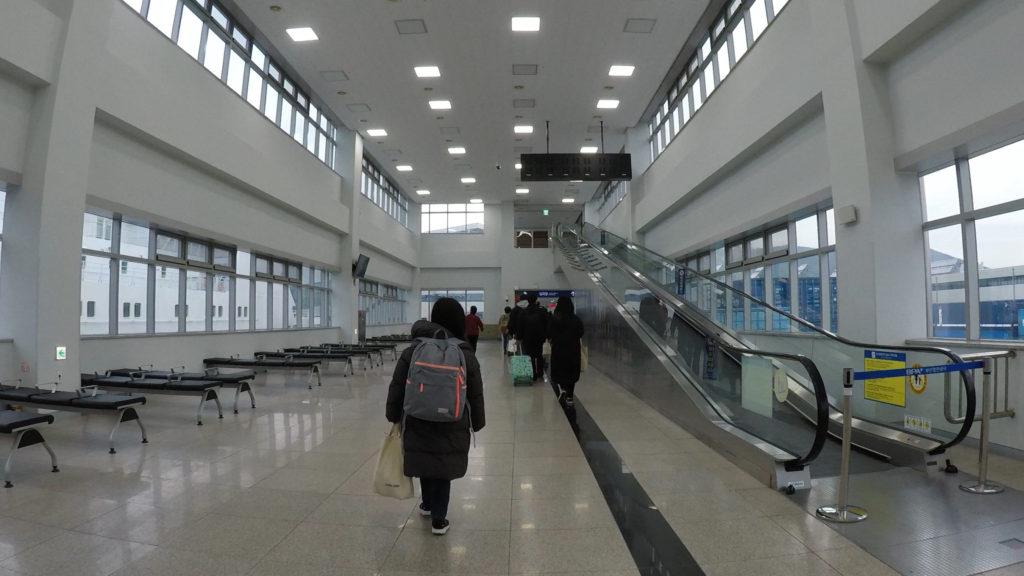 釜山国際旅客ターミナルの様子