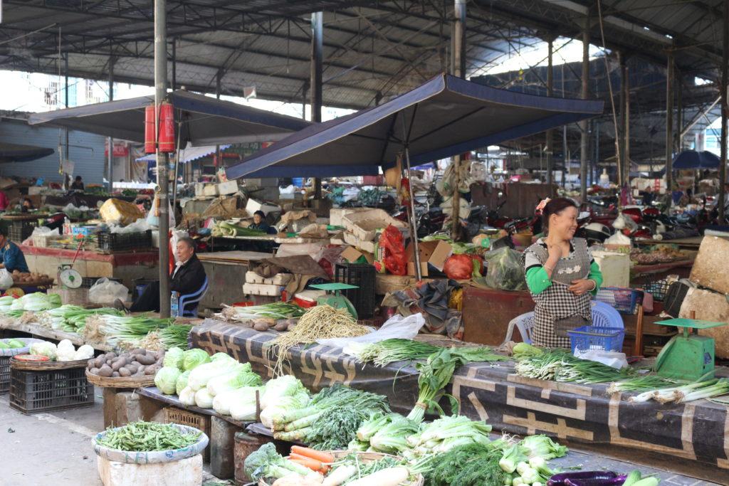 河口市民の台所とも言える市場
