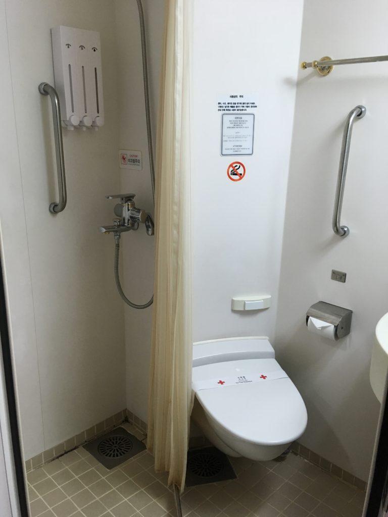 室内のトイレシャワー
