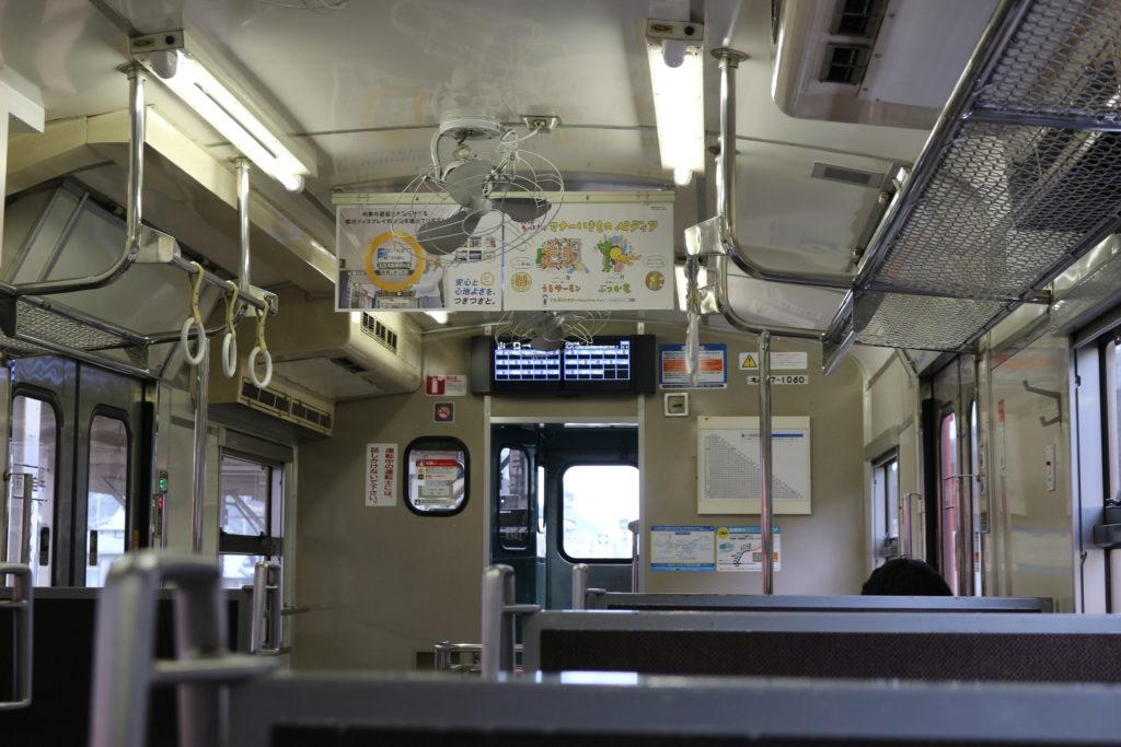 山口駅から新山口駅まで乗車した車両。