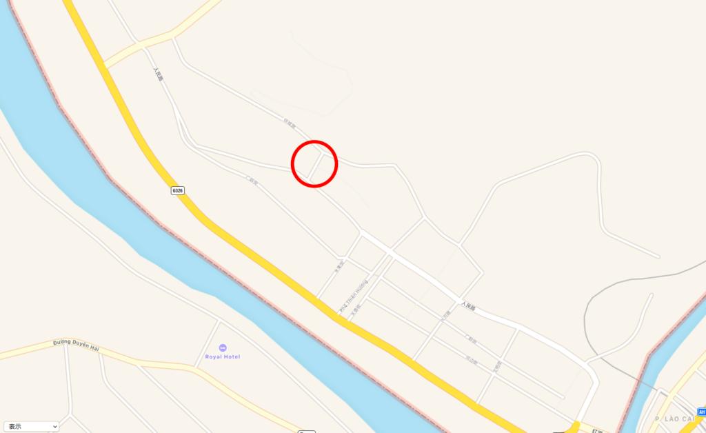 河口の地図