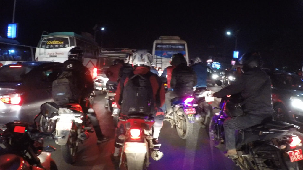 市内の交通渋滞