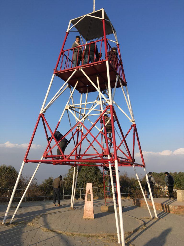 高台にあるNagarkot View Tower