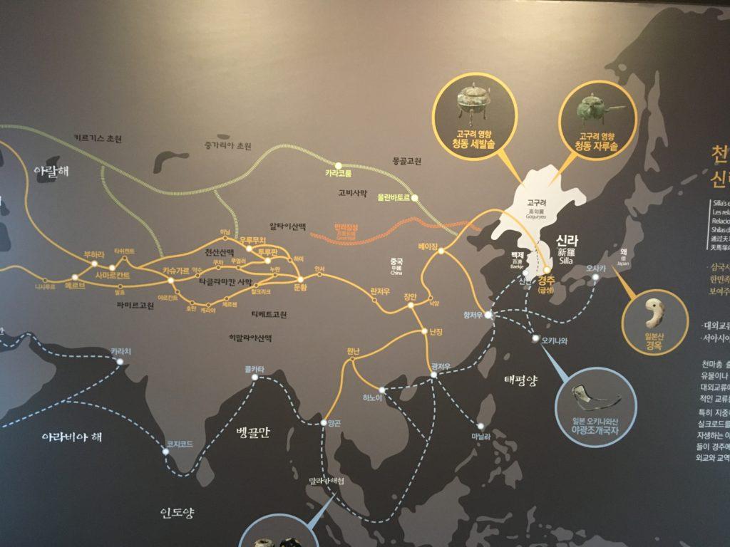新羅時代の歴史が見られる
