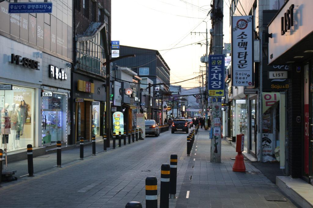 慶州の繁華街