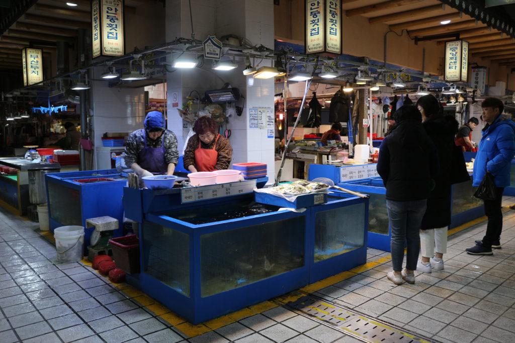 慶州中央市場の様子