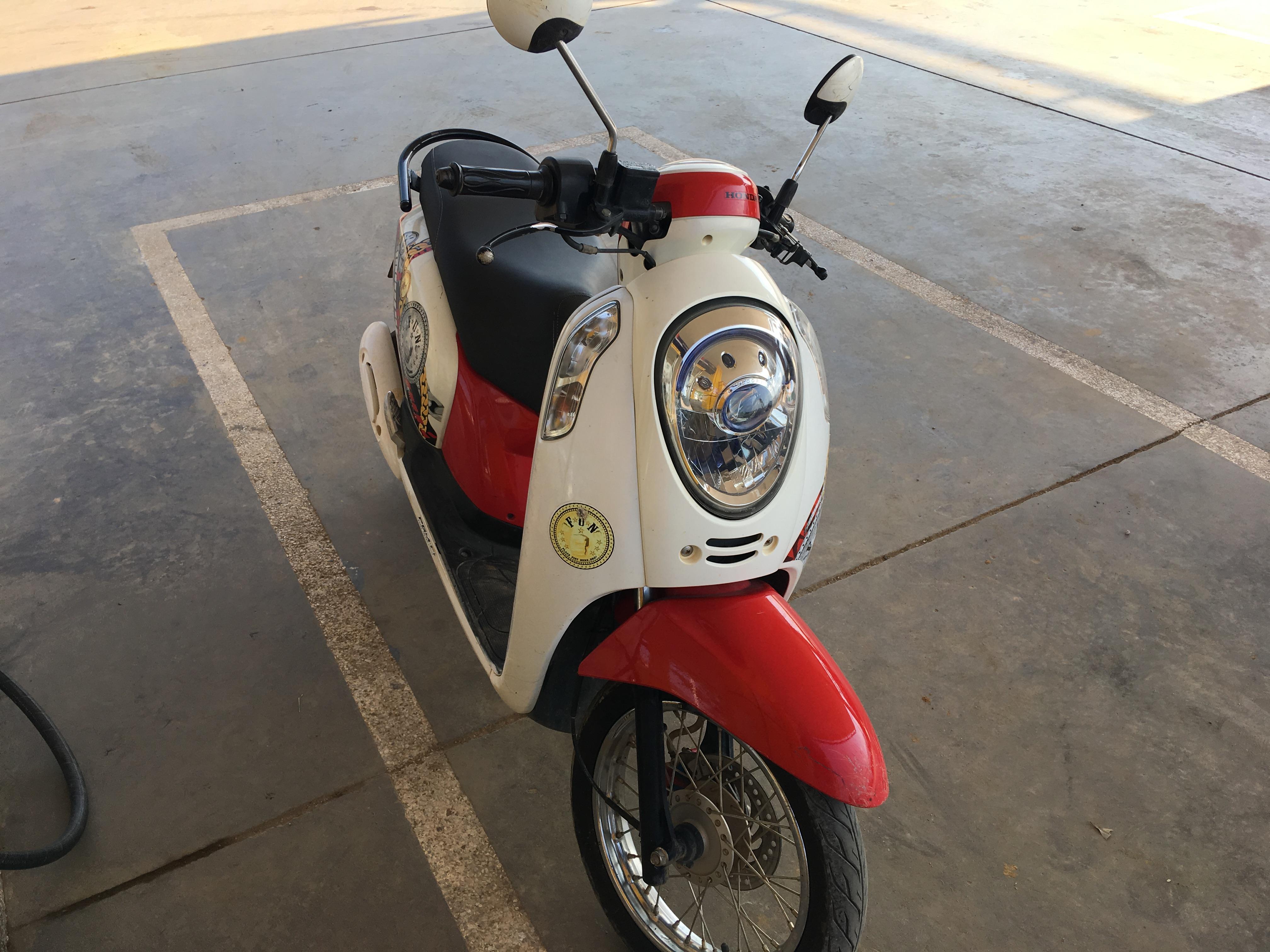 レンタルしたバイク