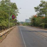 友好橋のラオス側