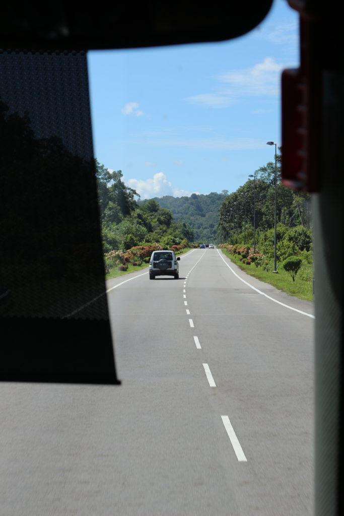ブルネイの道です。