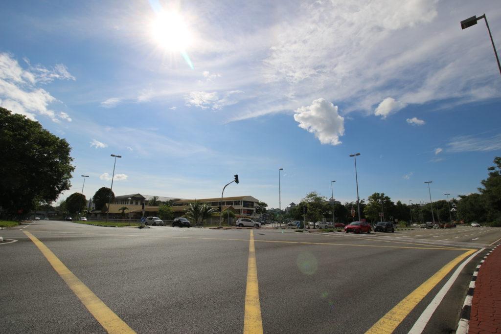ブルネイの大通りの様子