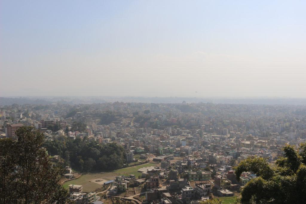 コパン僧院から見たカトマンズの景色