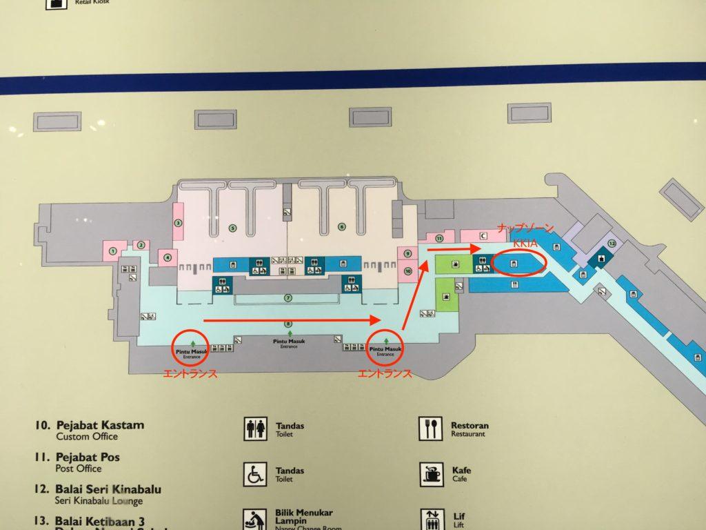 1階の案内図です