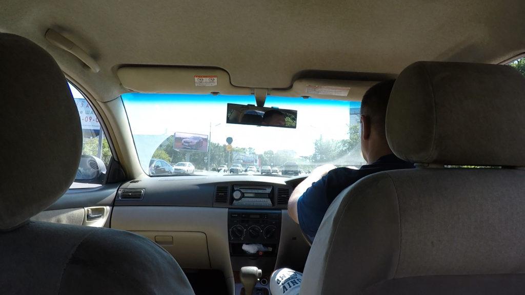 ウラジオストクの市街地まで利用したタクシー