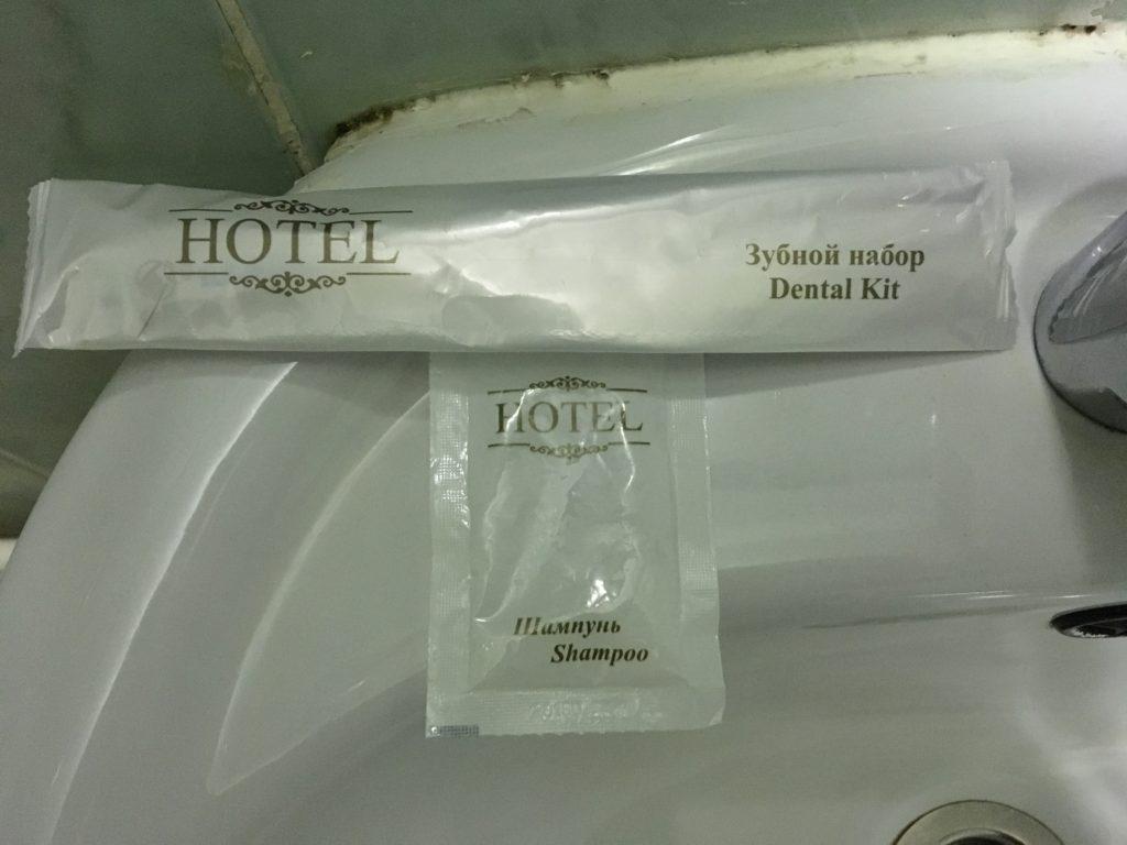 アメニティは歯ブラシとシャンプーがありました