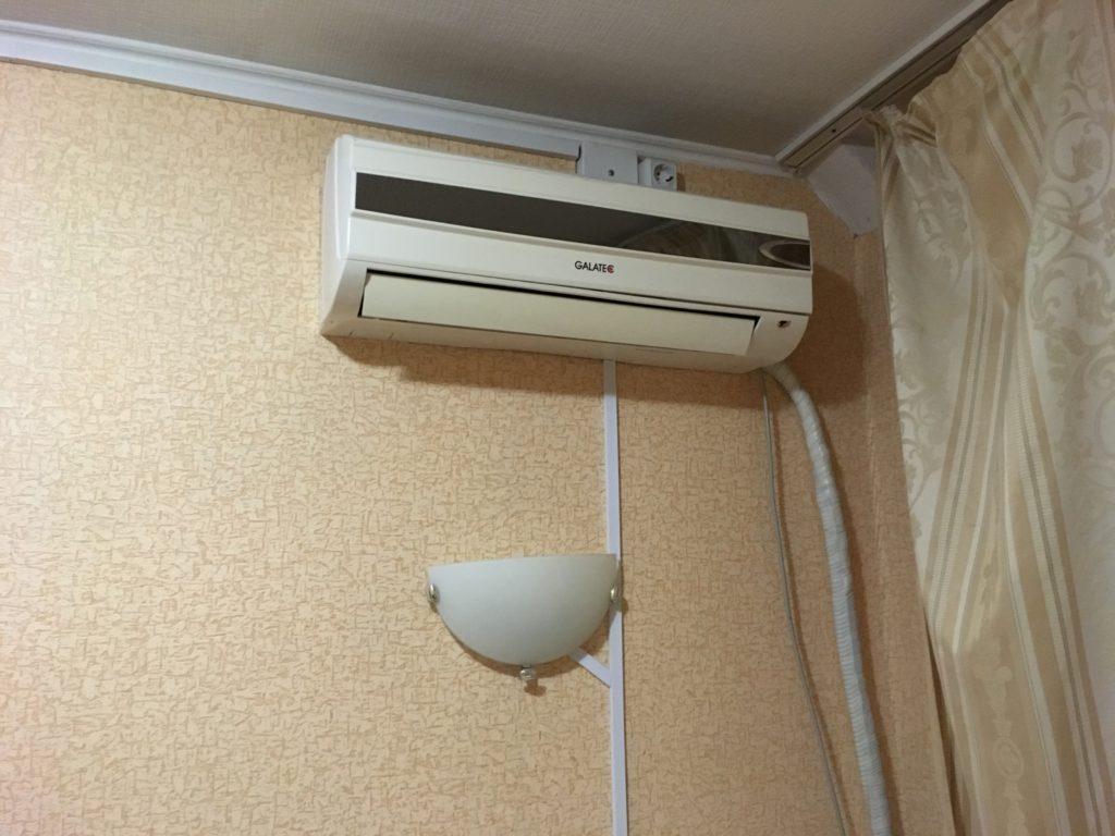 エアコンの電源は付きませんでした