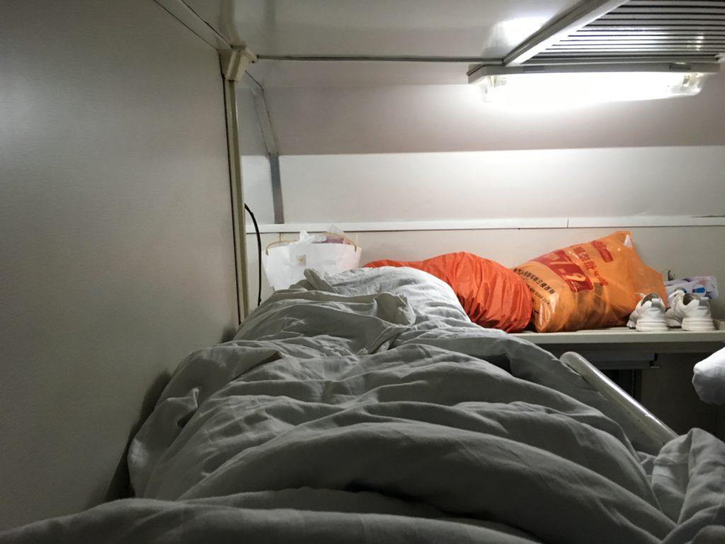 三段目のベッドからの景色です
