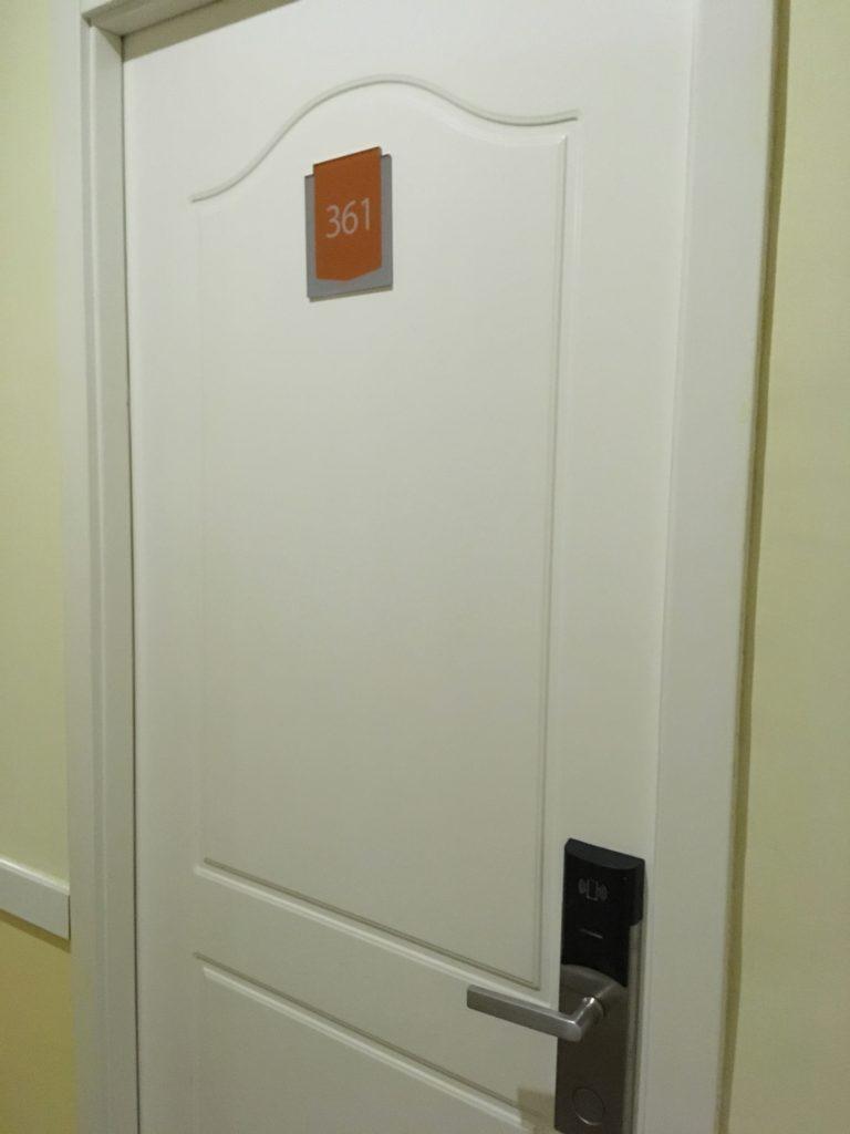 部屋の鍵はICカード式です