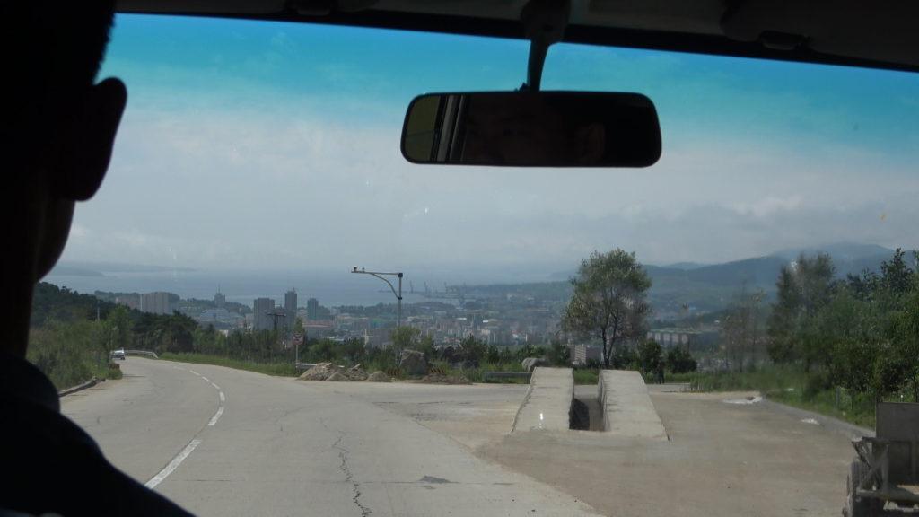 羅先の市街地の景色