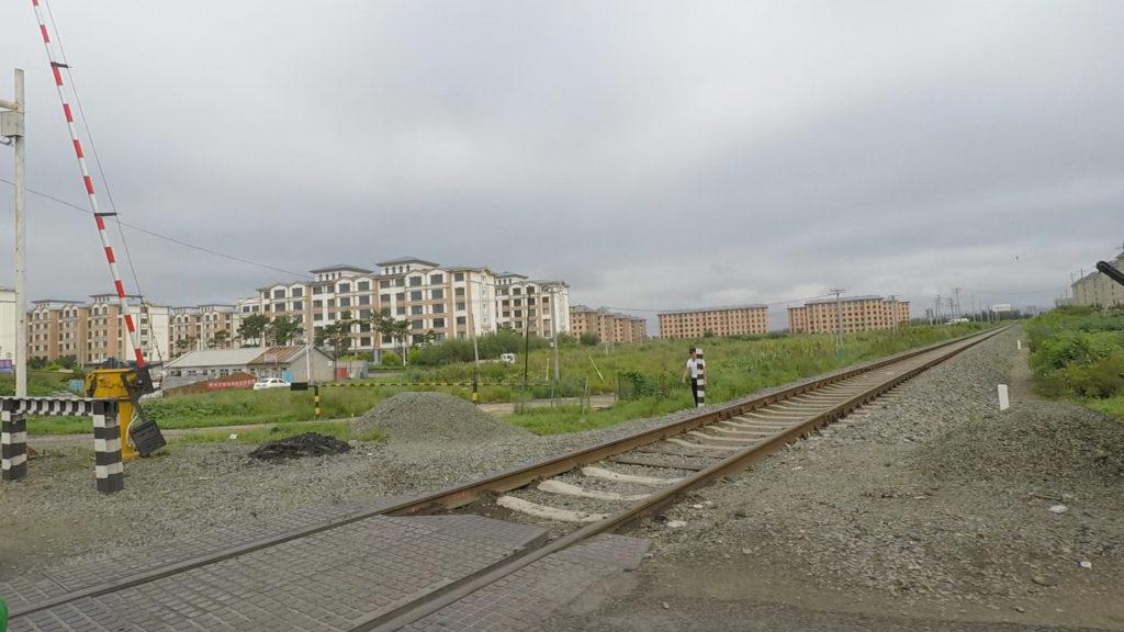琿春からロシアのポシエト港まで続く線路
