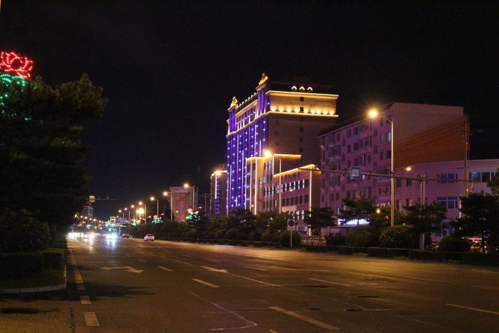 琿春の夜の景観