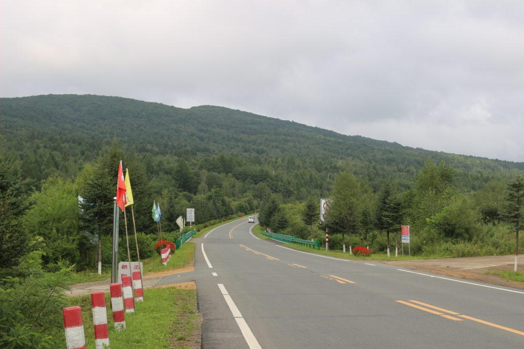 琿春から圏河まで延びる201省道