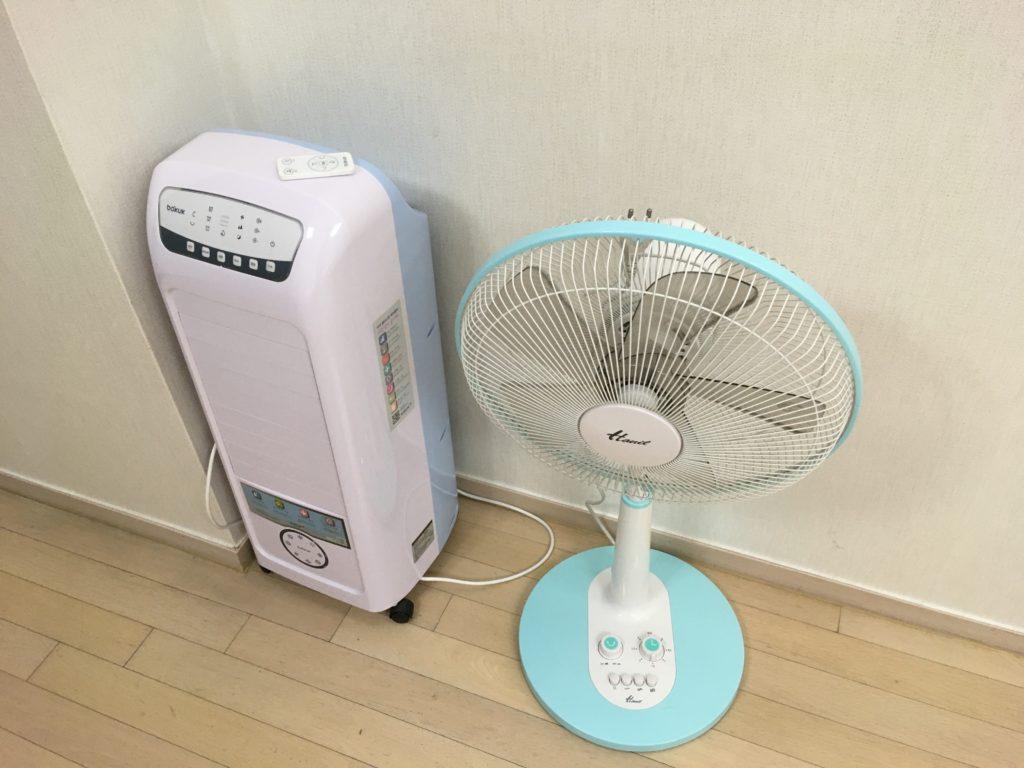 空気清浄機と扇風機