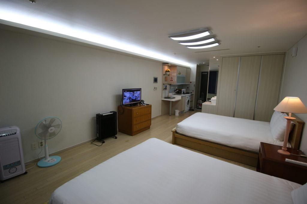 宿泊した部屋の様子