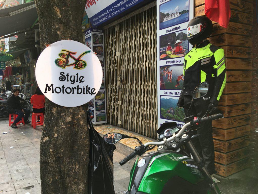STYLE MOTORBIKESの店頭