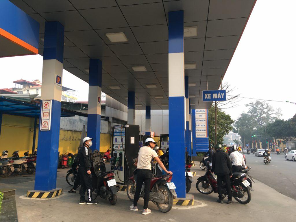 バイク専用の給油レーン