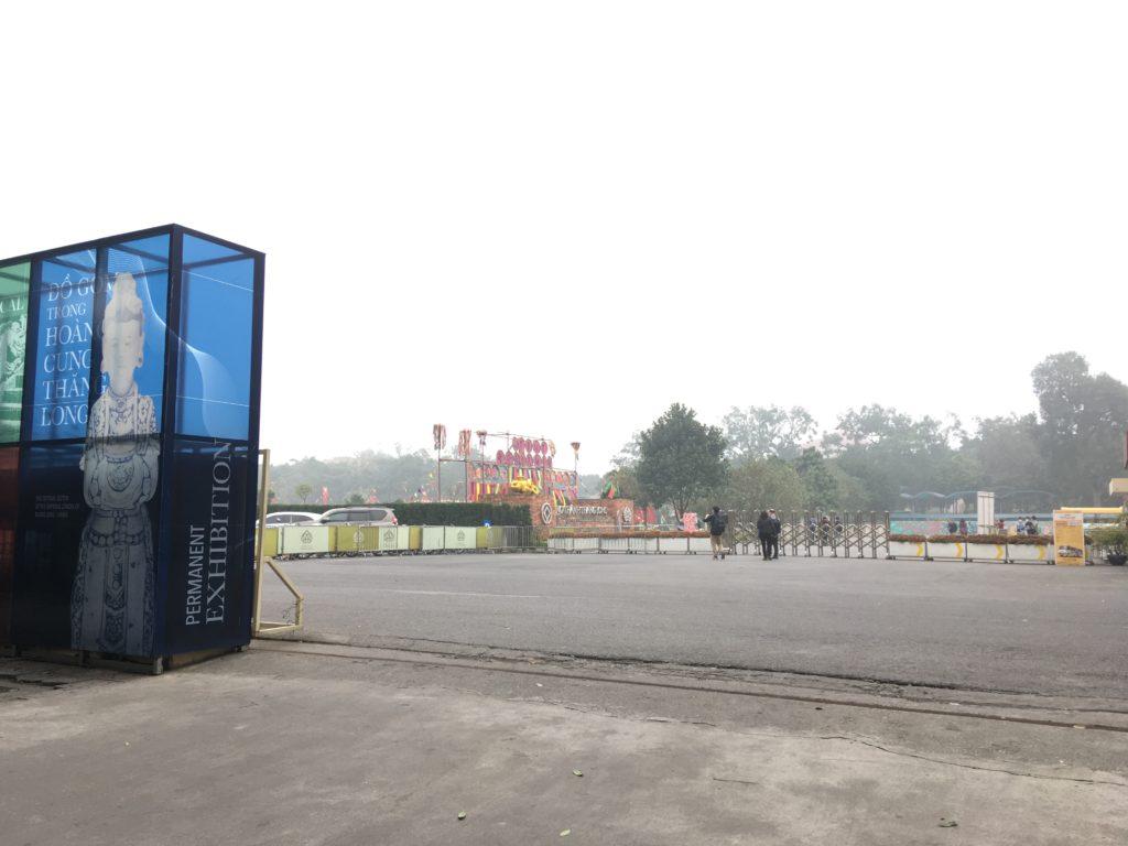タンロン遺跡の駐車場の入り口