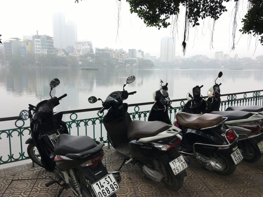 チャンクオック寺のバイク駐車スペース