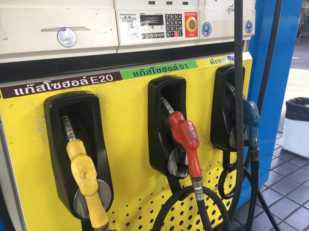給油するガソリンの種類は「ガソホール91」です。