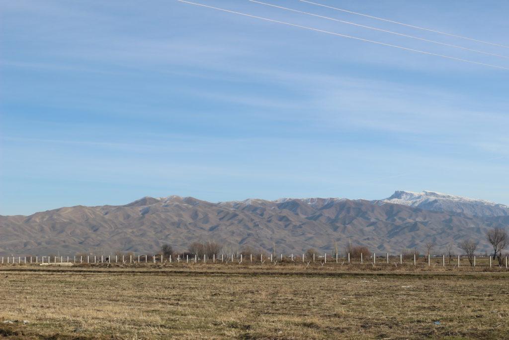 国境の北側にあった山脈