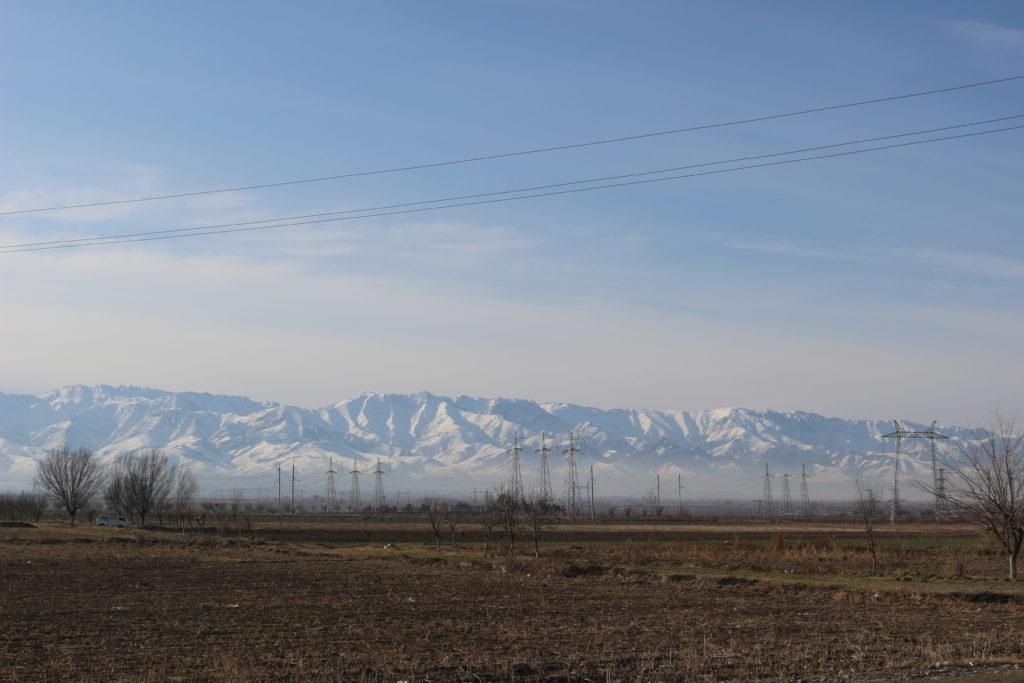 国境の南側にあった山脈