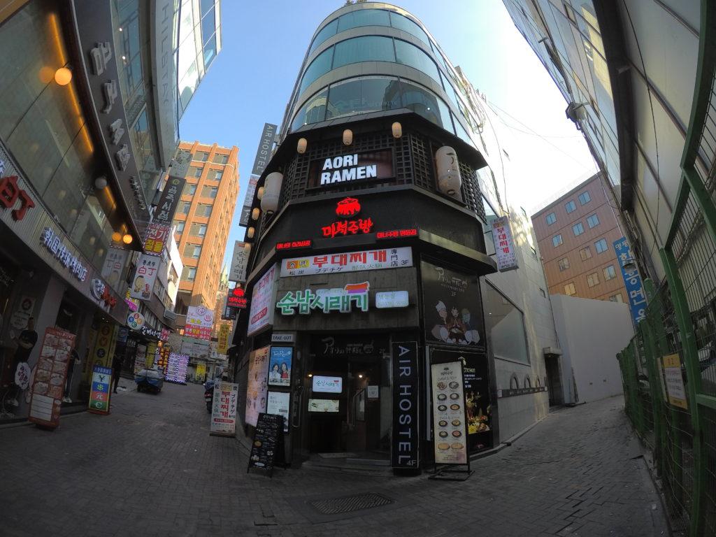 Myeongdong Airhostelが入った建物