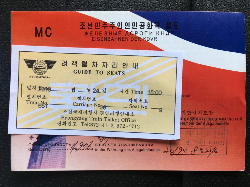 国際列車の乗車券