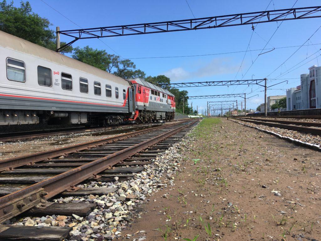 ロシアのウスリースクまで乗車した列車