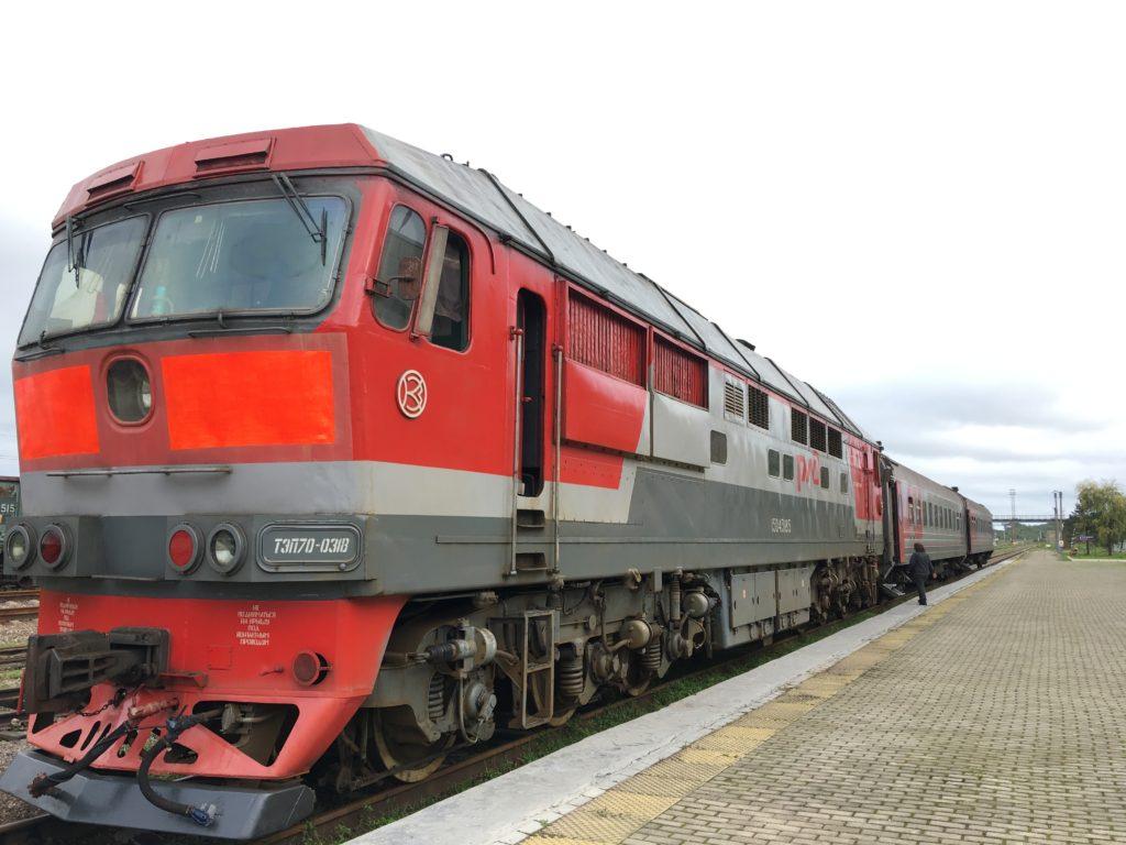 乗車した豆満江発ハバロフスク行きの国際列車