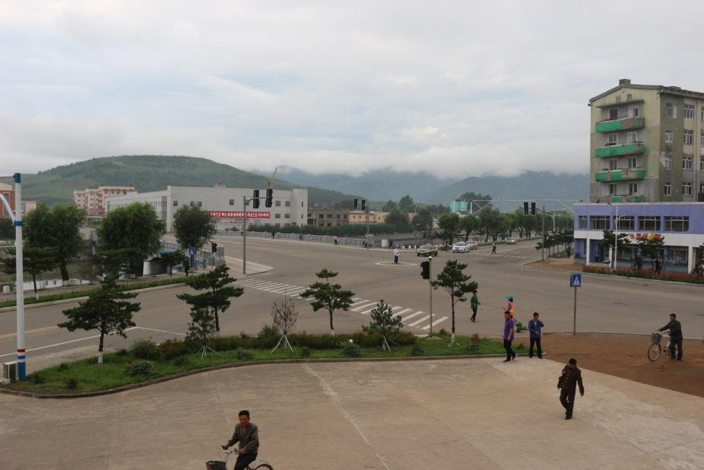 ホテル前の景観