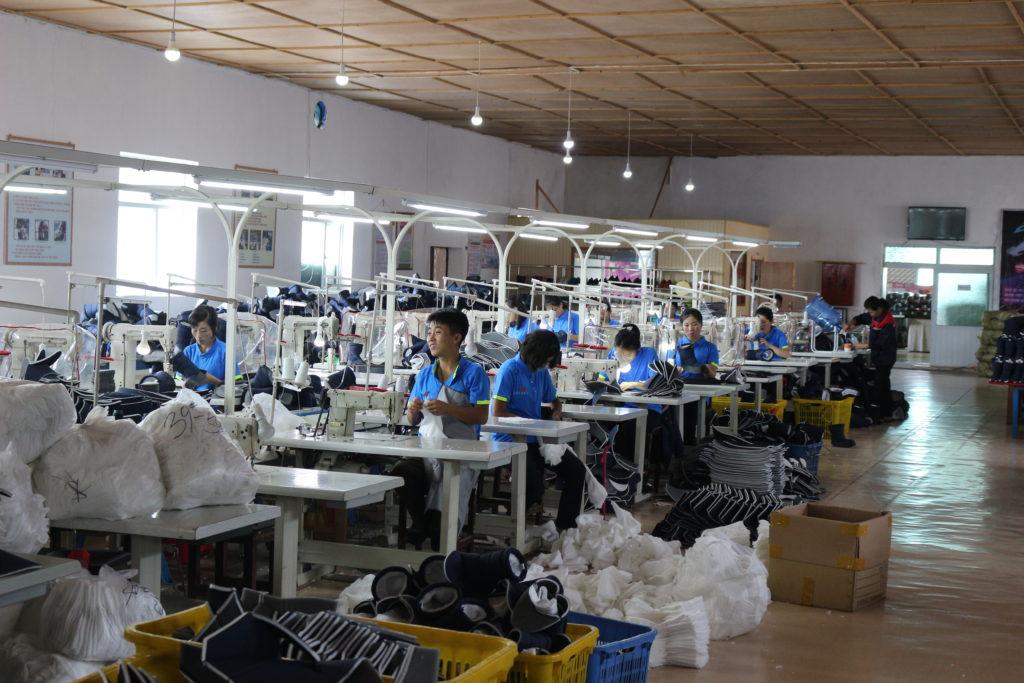 靴工場の様子