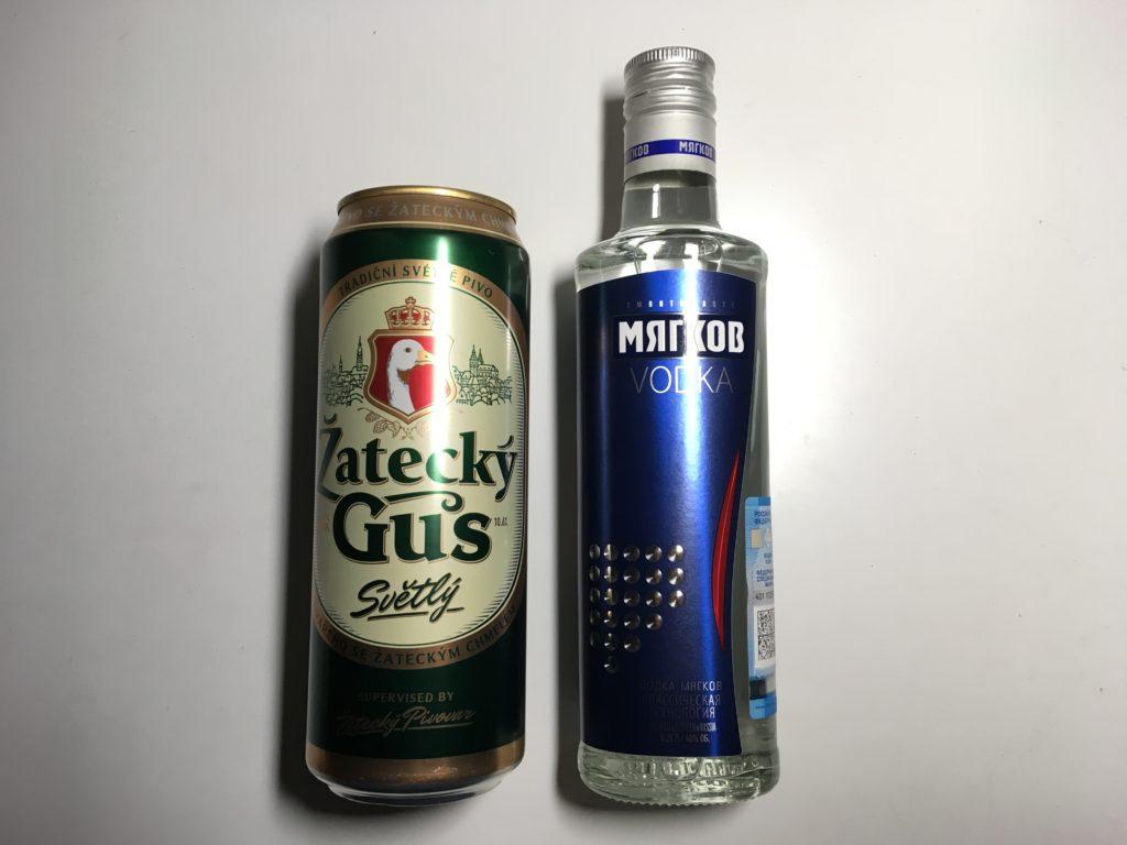 購入したウォッカとビール