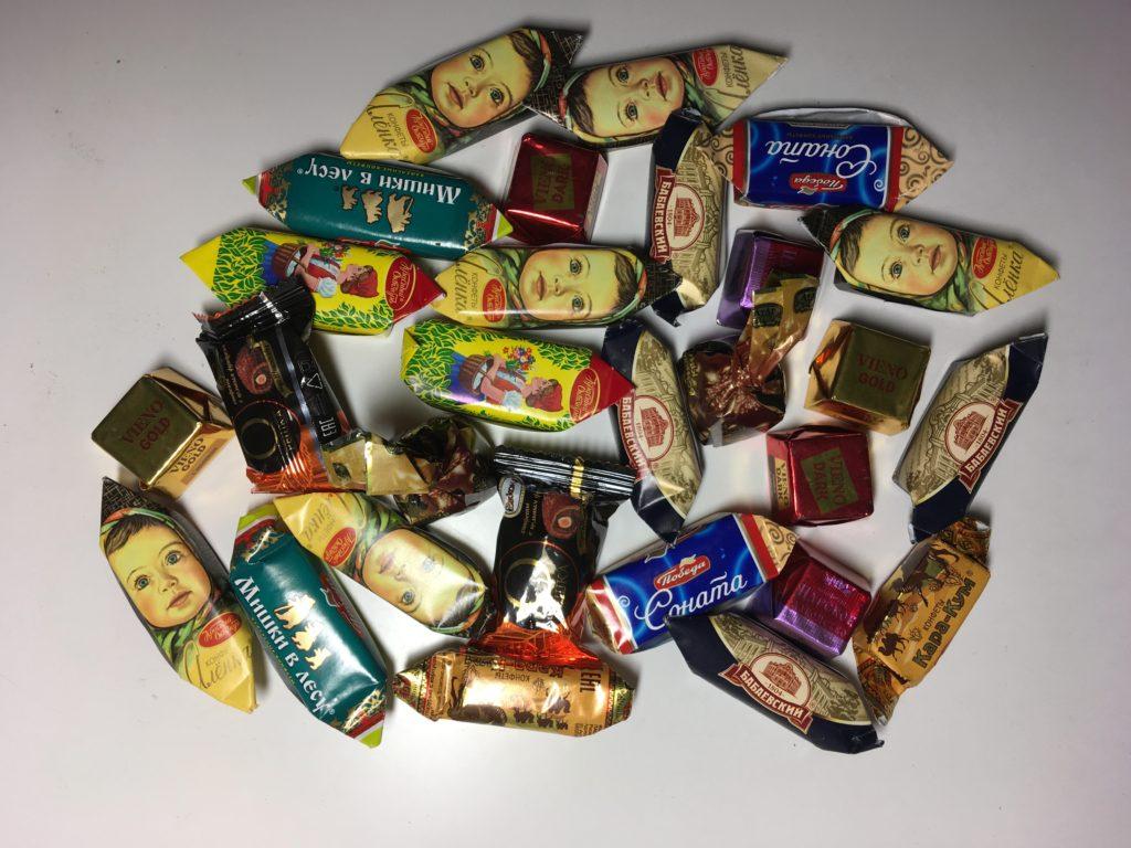 バラ売りのチョコレート
