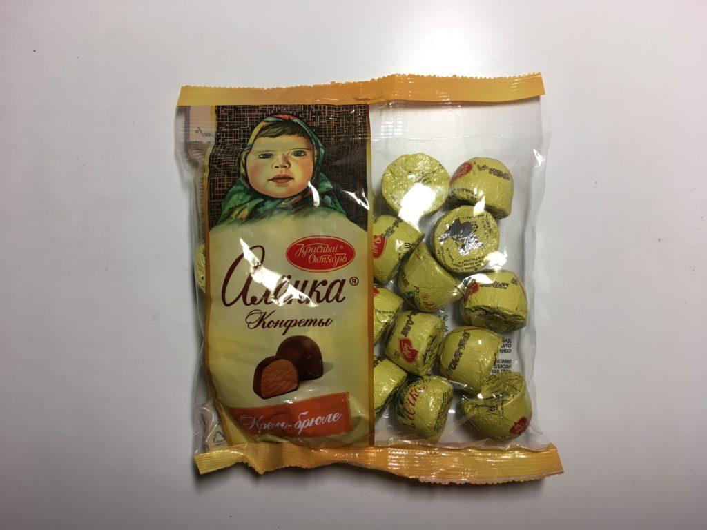 ロシアチョコレートの詰め合わせ 150ルーブル(≒225円)