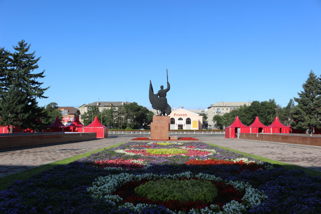 町の中心にあった公園