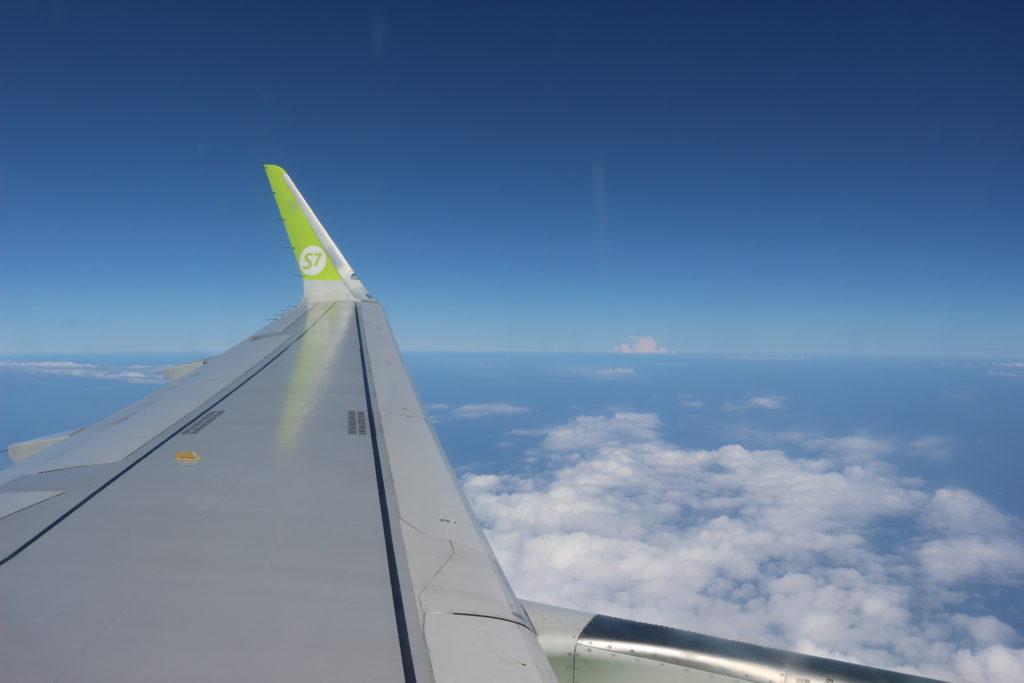 初めてS7航空に乗りました